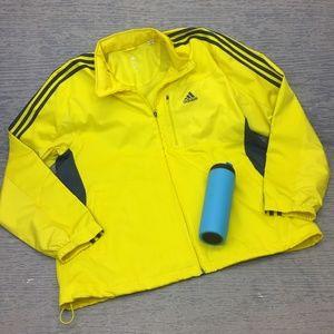 Adidas yellow windbreaker jacket